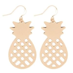 New, Geo Cutout Pineapple Drop Earrings